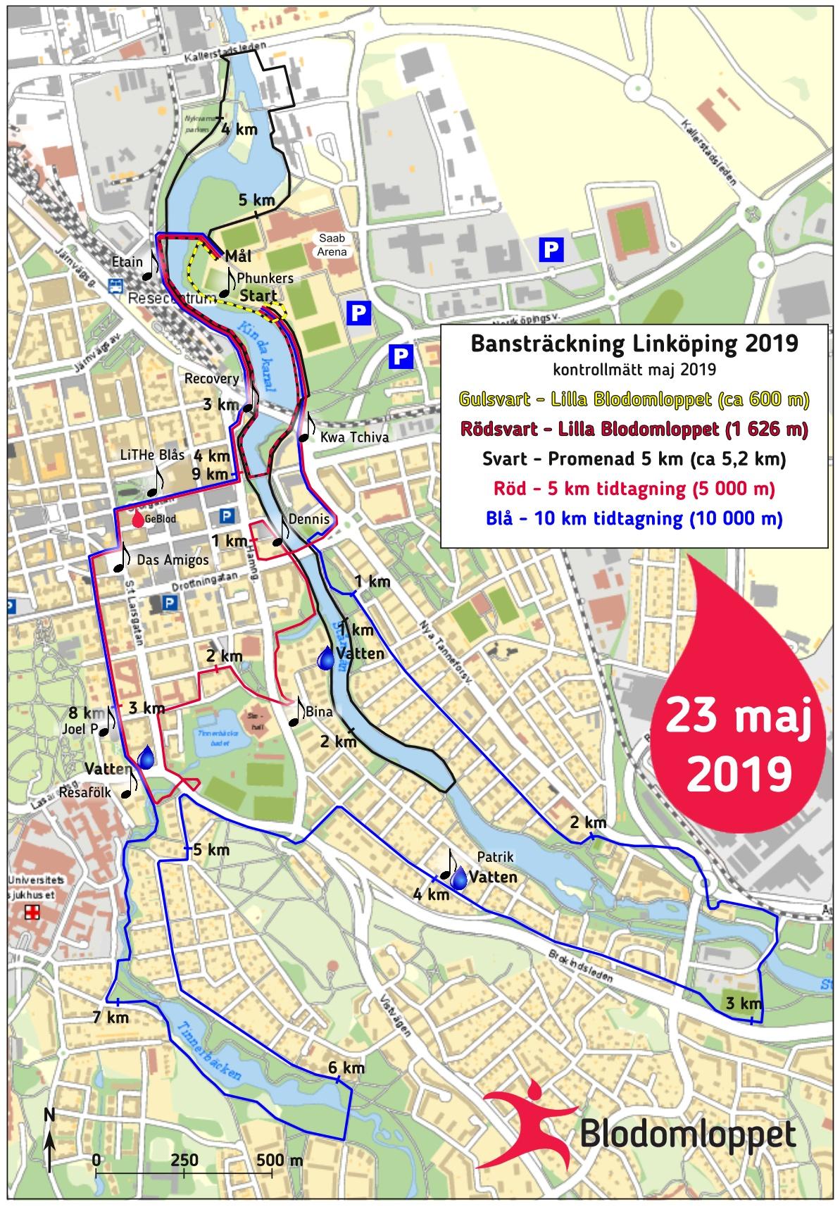 Arena Och Banstrackning Blodomloppet 2020